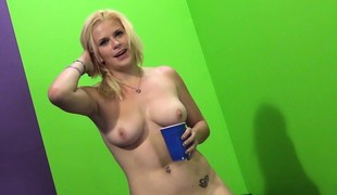 Hot Kierstin acquires drilled and cum on her tits, then toys her way to a squirt