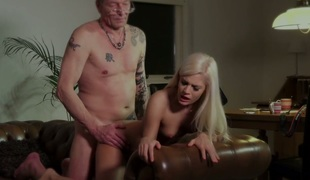 Mature man fucks marvelous blonde angel Candee Licious