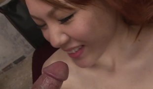 Japanese bunny Rei screwed hard and creamed in her hirsute mound