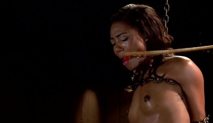 Ebon Slut is Tormented and Machine Drilled