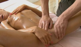 Sweet son gets lusty poundings after having massage