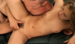 Bushy twat Erica Venus trades oral and this chab jams in his stiff wanker