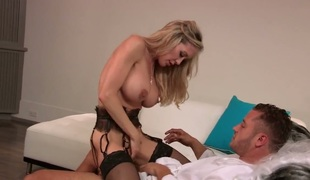 Brandi Love cant wait to be screwed in her face hole by hard cocked guy
