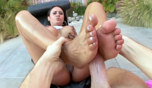 Mariah Milano with phat butt is extremely horny in this cum flying act