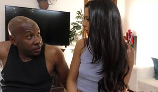 Huge black dick is exactly what her taut white beaver needed!
