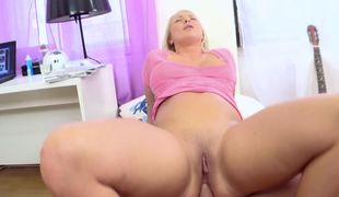 Blonde with big tits is doing anal sex with a indeed concupiscent gut