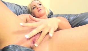 Foxy blonde Cali Carter gets her freak on with fantastic cock action