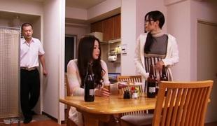 Hottest Japanese model in Incredible Cunnilingus, Wife JAV scene