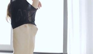 amatør tenåring barbert tynn slikking massasje