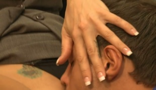 Pal cums on his hot girlfriend after banging her so nicely