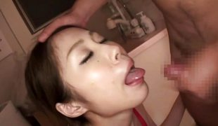 Asian slobbers over these hard cocks