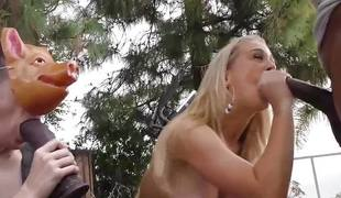 Babe Cherie Deville takes on hard cock