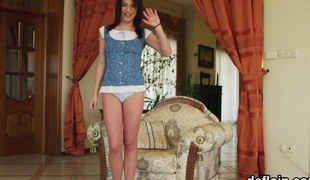 cute teen is a sweet one but has a filthy side