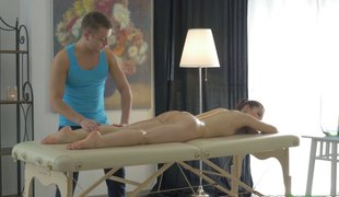 Desirable senorita is ready for the best massage of her entire life