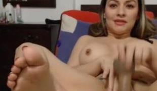 latin chick masturbate creamy orgasm - dirty squirt + anal