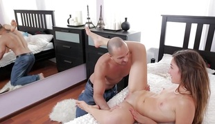 Loving young couple fuck anally
