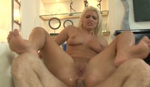 John Strong bonks Layla Price in her mouth as hard as possible in oral action before she gets fucked in her booty