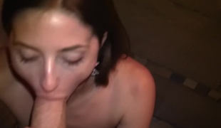 Hot amateur Spanish beauty sucking and jerking off his big 10-Pounder