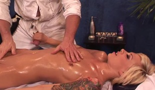 Emma looks absolutely fantastic and should be nailed during the massage