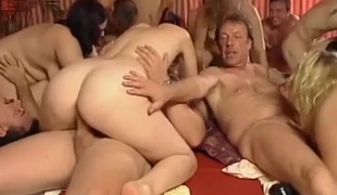 Extreme wild german amateur swinger groupsex fuck orgy final weekend