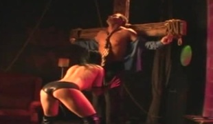 Wicked doxy acquires pounded with a stiff cock in the dungeon