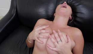 Latin chick with fine natural boobs is getting a really wonderful titfuck