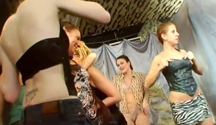 Loads of hot slits and wicked merry pointer sisters during orgy party