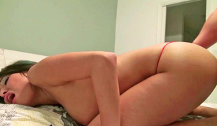 A virgin asshole is getting stretched and likewise penetrated