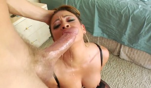 Exotic Mia Lelani loses control after Mark Ashley puts his erect dick in her mouth