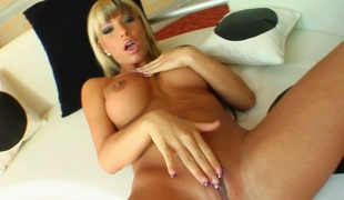 Hot as fire blond hoe Sandra loves anal in the afternoon