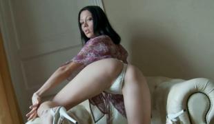 amatør tenåring vakker onani truser ass dildo solo små pupper