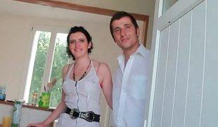 amatør european brunette romantisk casting hjemmelaget