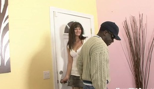 Housewife Santina Marie Ordered Darksome Cock Home Service