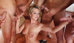 Facial group cumshots for Karin on Cum For Cover