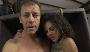 Bonnie Rotten and Valeria Visconti show each inch of their hot bodies to Rocco Siffredi. They shake their butts and undressed their enjoyable tits. Flirtatious sweethearts make man cheerful
