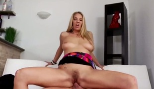 Blonde Jordan Kingsley cant resist the wish to take unyielding love stick in her face hole : the best video Pornalized.com