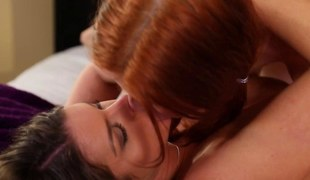 Redhead lezzie eaten out