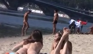 Nudist beach brings the best out of 2 hot teens
