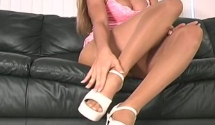onani fetish strømpebukse høye hæler nærhet nylon rykke ut instruksjon