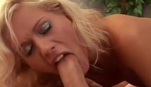Naughty bimbos ride a pulsating cock