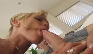 Two gorgeous bisexual pornstars share a cock