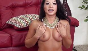 Morgan Lee fucked with a sex tool