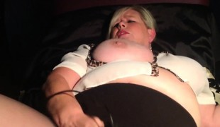 BBW MILF having joy with various toys