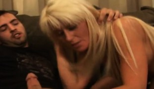 Insatiable blond Summer has two hung boys plowing her holes at once
