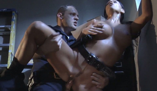 Mikayla Mendez provides horny cop with splendid blow job