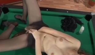 Cecilia pantyhose tease video