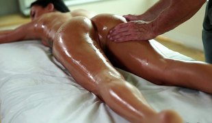 hardcore massasje par hd olje fin rumpe