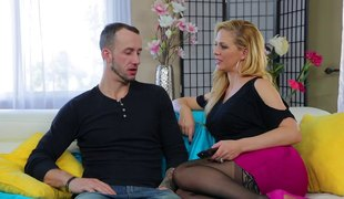 Dazzling blonde senorita rides the wang with her tighter hole