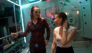 Drunk girls at a nightclub fuck total strangers on the dance floor