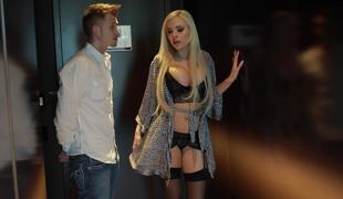 Blond Pornstar Nina Elle escorting me